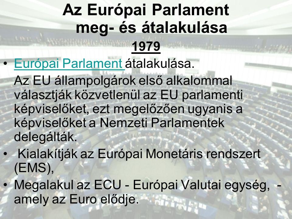 Az Európai Parlament meg- és átalakulása