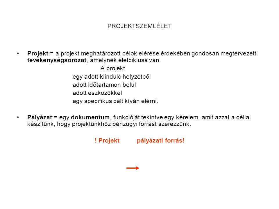 ! Projekt pályázati forrás!