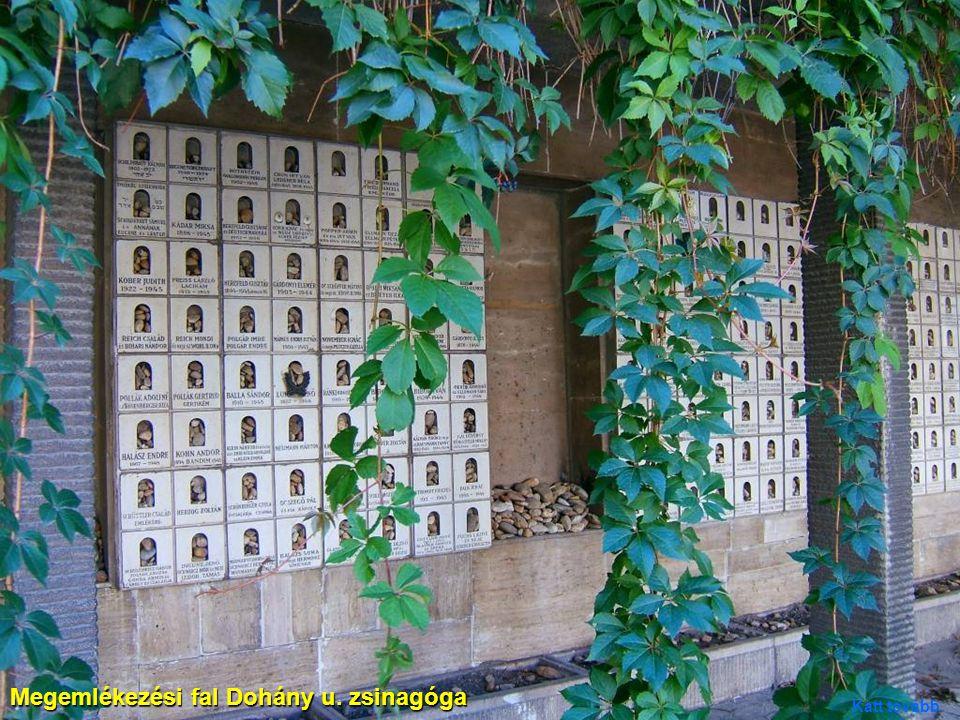 Megemlékezési fal Dohány u. zsinagóga