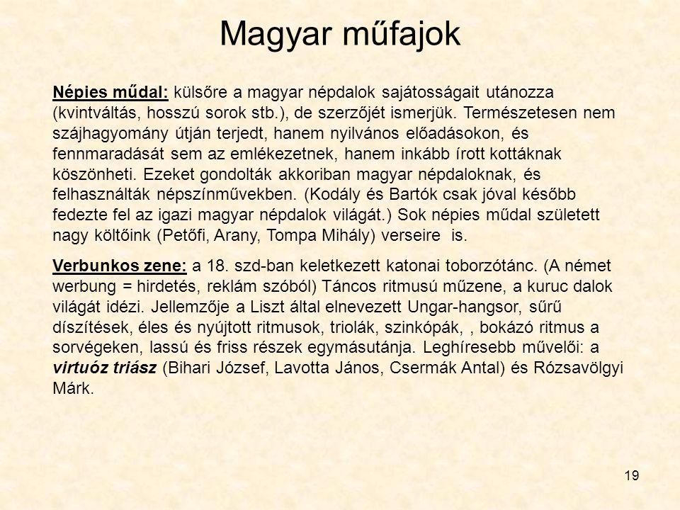 Magyar műfajok