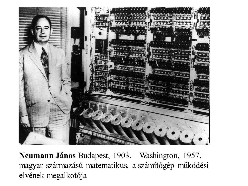Neumann János Budapest, 1903. – Washington, 1957