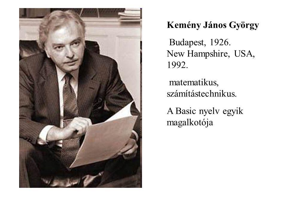 Kemény János György Budapest, 1926. New Hampshire, USA, 1992.