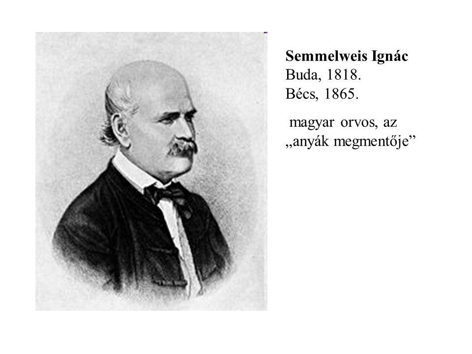 Semmelweis Ignác Buda, 1818. Bécs, 1865.