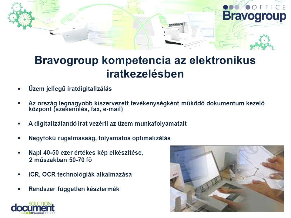 Bravogroup kompetencia az elektronikus iratkezelésben