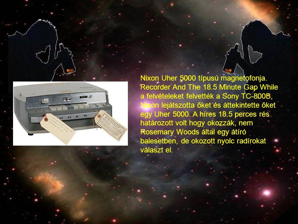 Nixon Uher 5000 típusú magnetofonja. Recorder And The 18