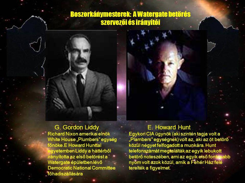 Boszorkánymesterek: A Watergate betörés szervezői és irányítói