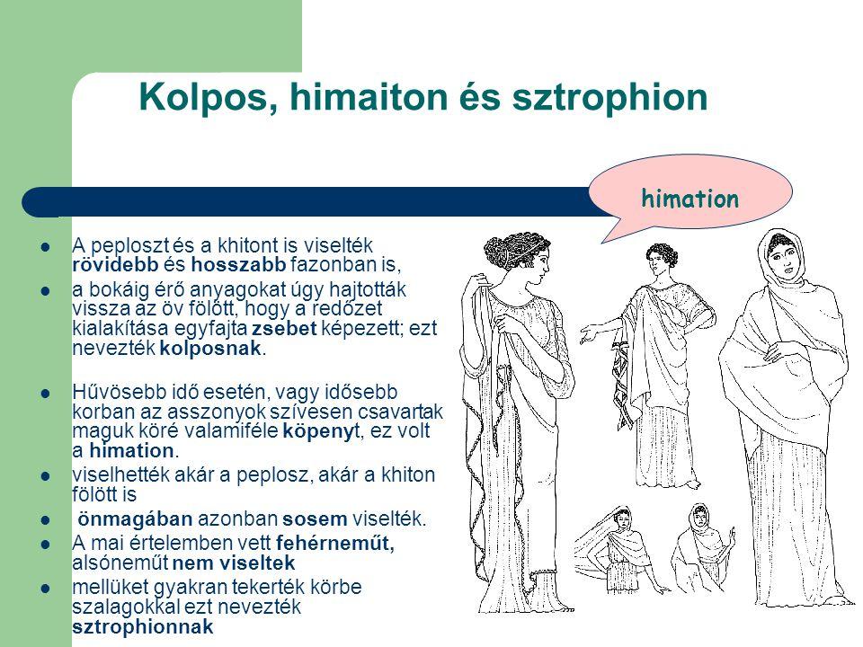 Kolpos, himaiton és sztrophion
