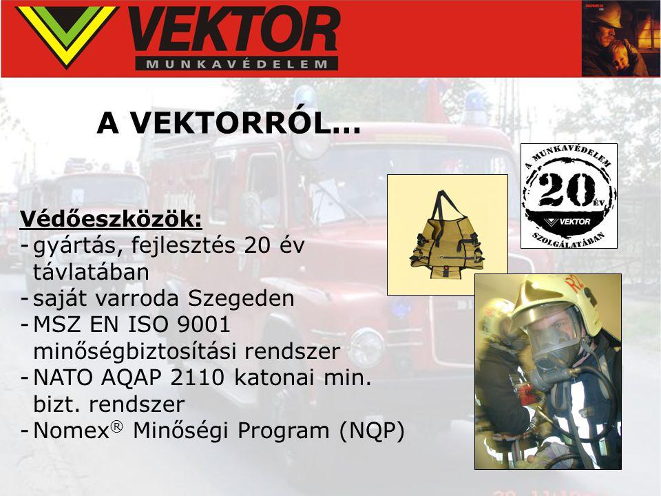 A VEKTORRÓL… Védőeszközök: gyártás, fejlesztés 20 év távlatában