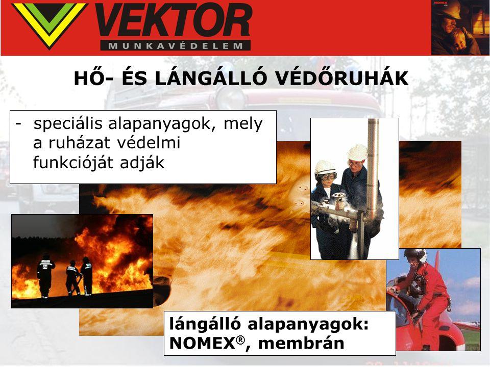 HŐ- ÉS LÁNGÁLLÓ VÉDŐRUHÁK