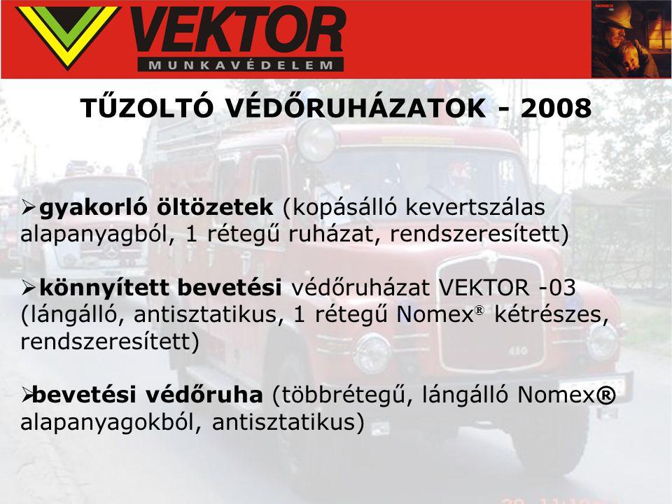 TŰZOLTÓ VÉDŐRUHÁZATOK - 2008
