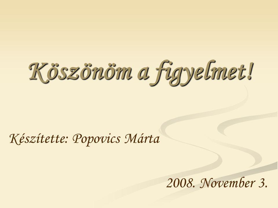 Készítette: Popovics Márta 2008. November 3.