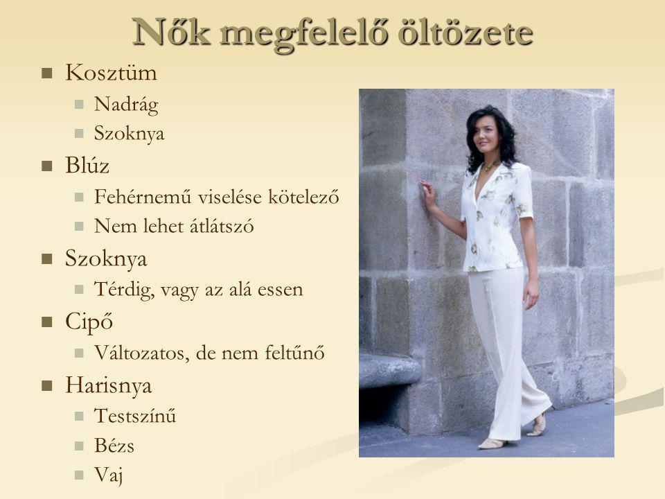 Nők megfelelő öltözete