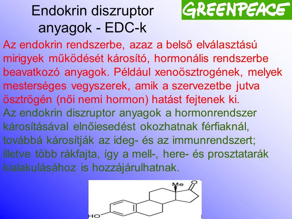Endokrin diszruptor anyagok - EDC-k