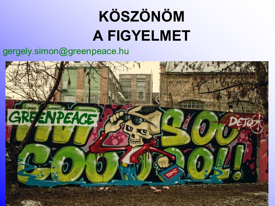 KÖSZÖNÖM A FIGYELMET gergely.simon@greenpeace.hu 35