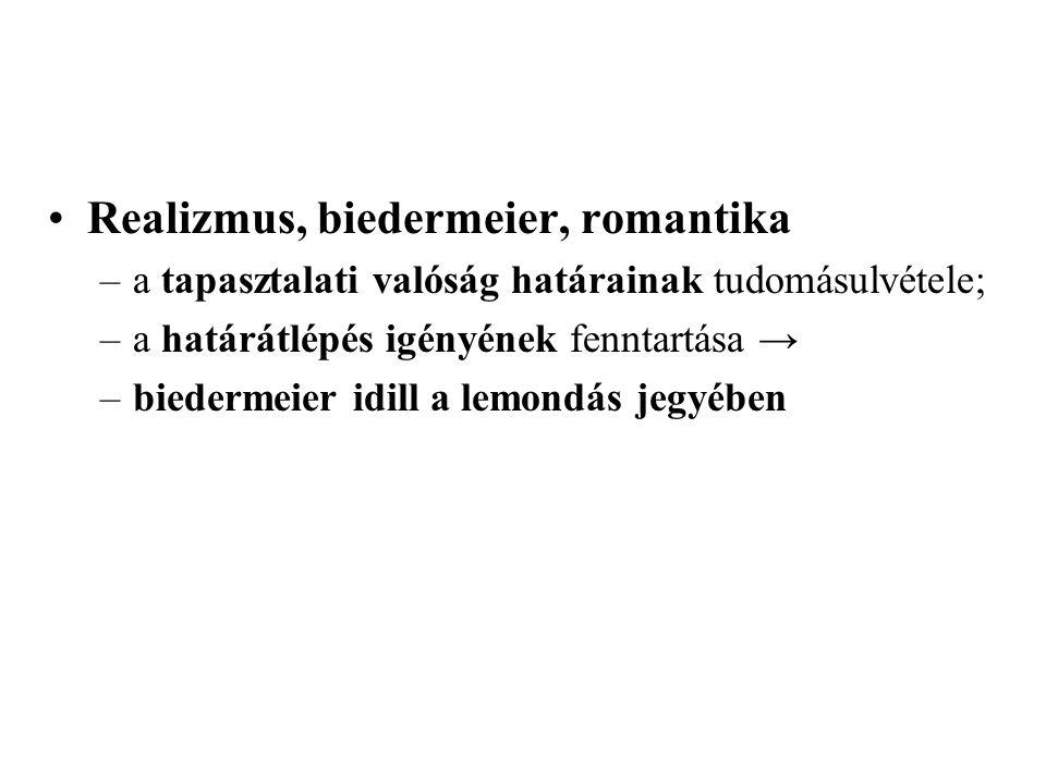 Realizmus, biedermeier, romantika