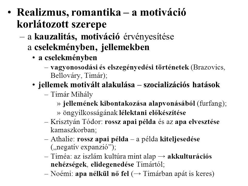 Realizmus, romantika – a motiváció korlátozott szerepe