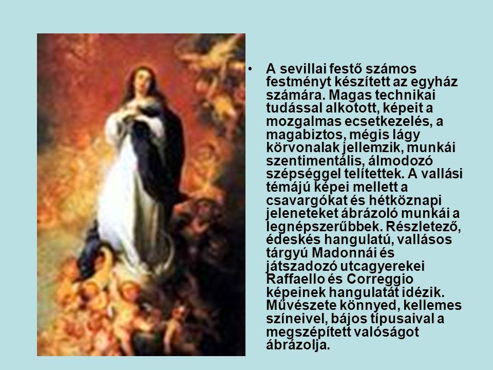 A sevillai festő számos festményt készített az egyház számára