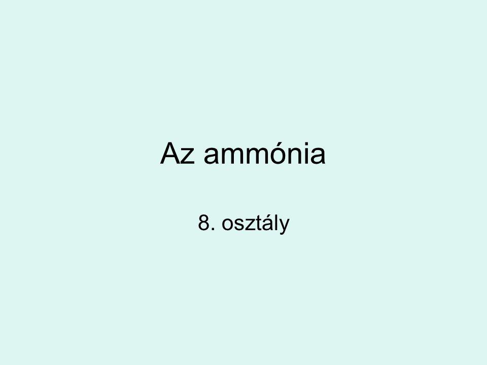 Az ammónia 8. osztály