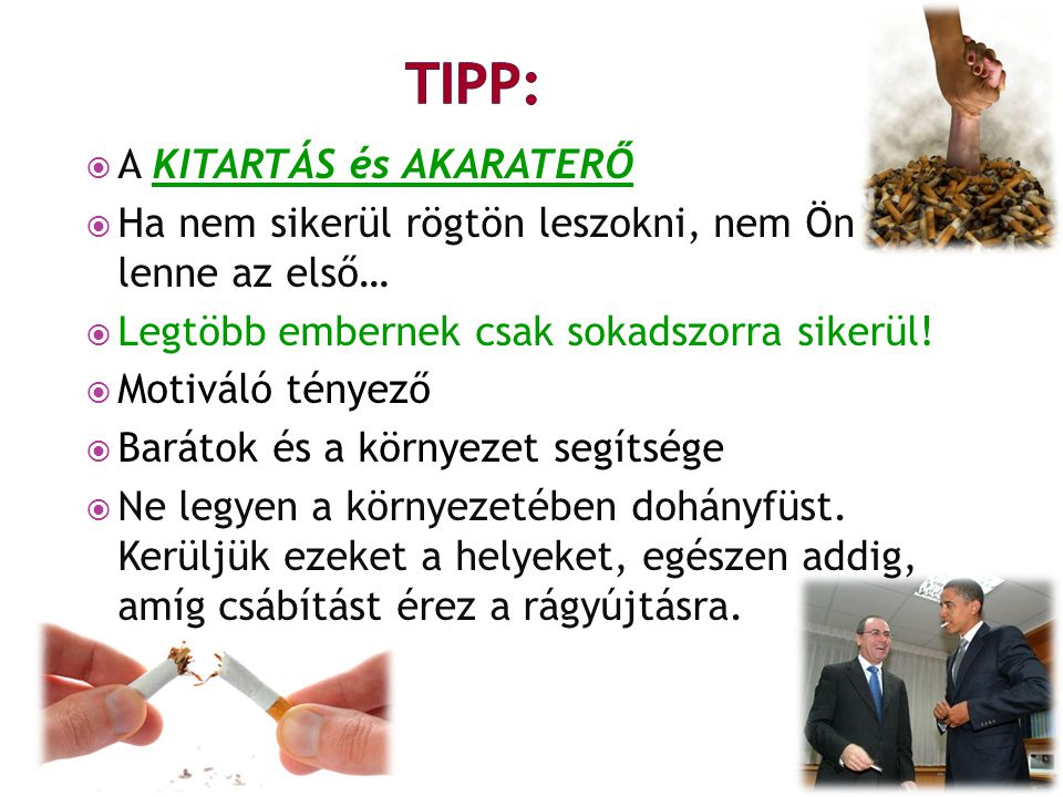 TIPP: A KITARTÁS és AKARATERŐ