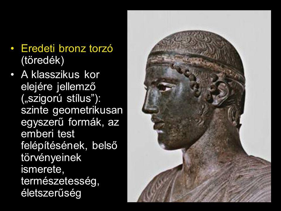 Eredeti bronz torzó (töredék)