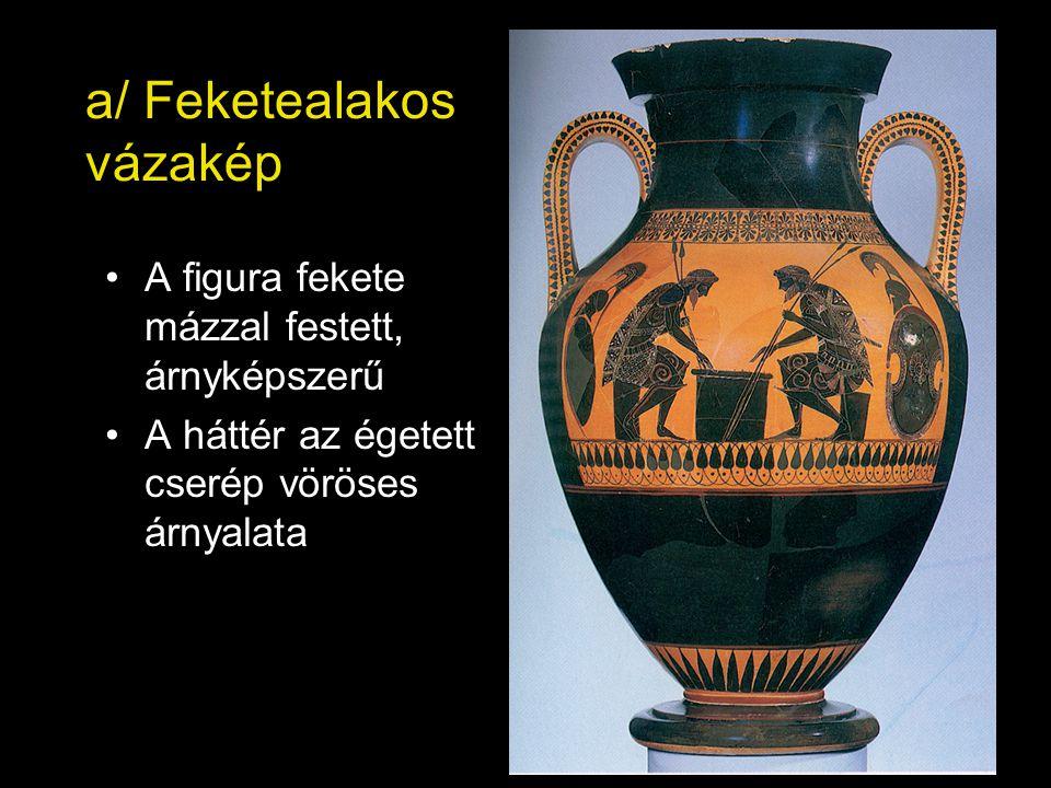 a/ Feketealakos vázakép