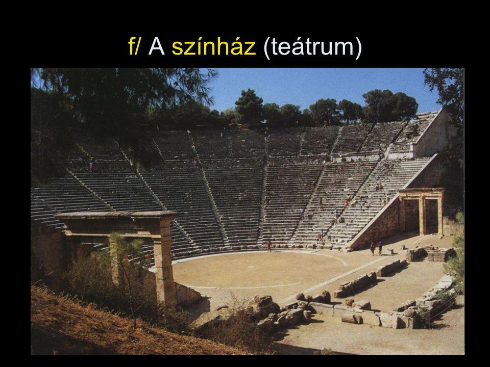 f/ A színház (teátrum)