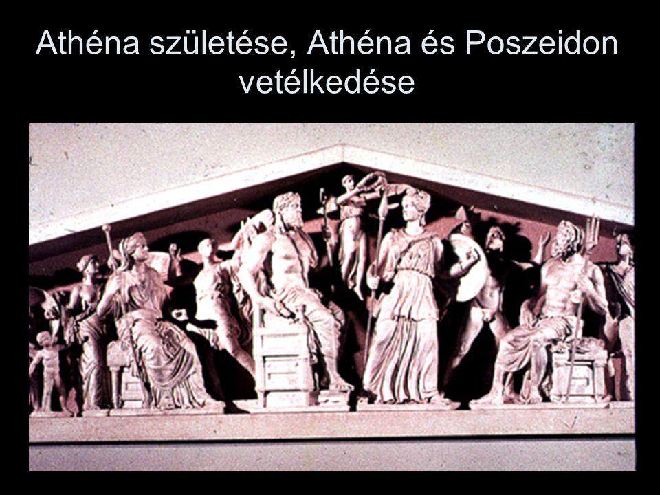 Athéna születése, Athéna és Poszeidon vetélkedése