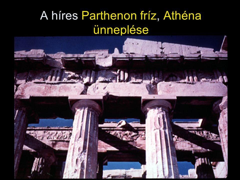 A híres Parthenon fríz, Athéna ünneplése