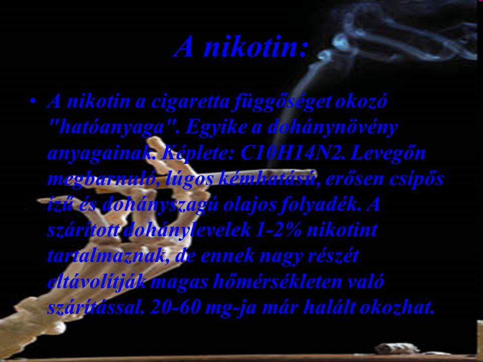 A nikotin: