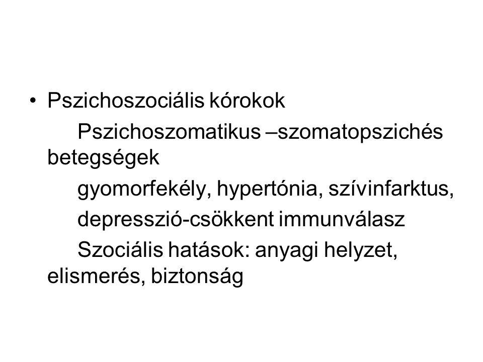 Pszichoszociális kórokok
