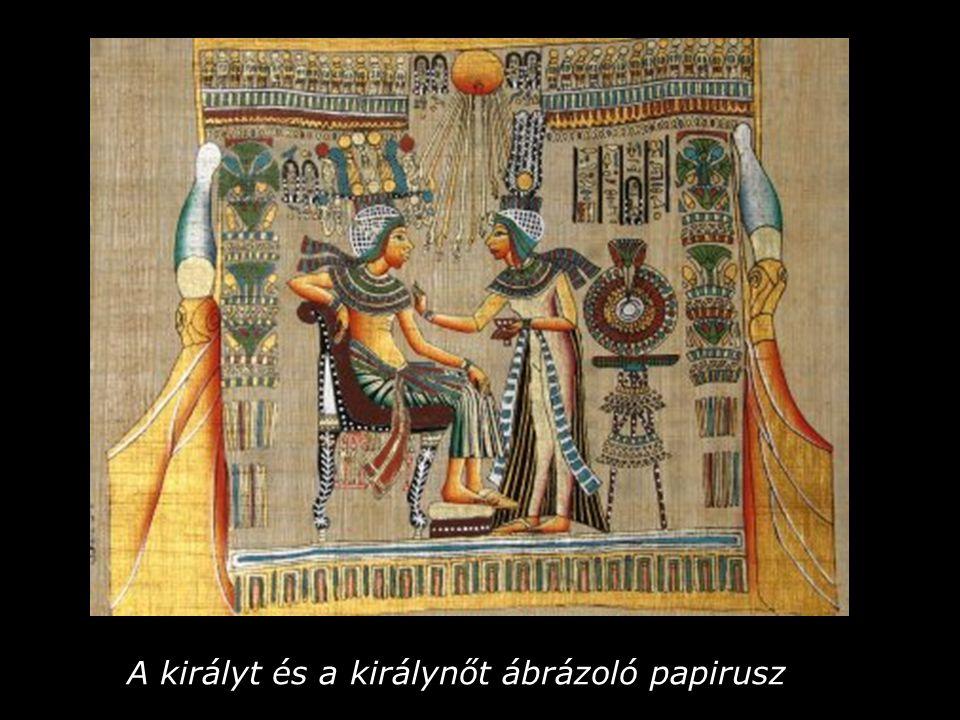 A királyt és a királynőt ábrázoló papirusz