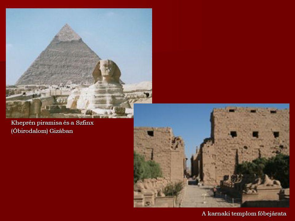 Kheprén piramisa és a Szfinx