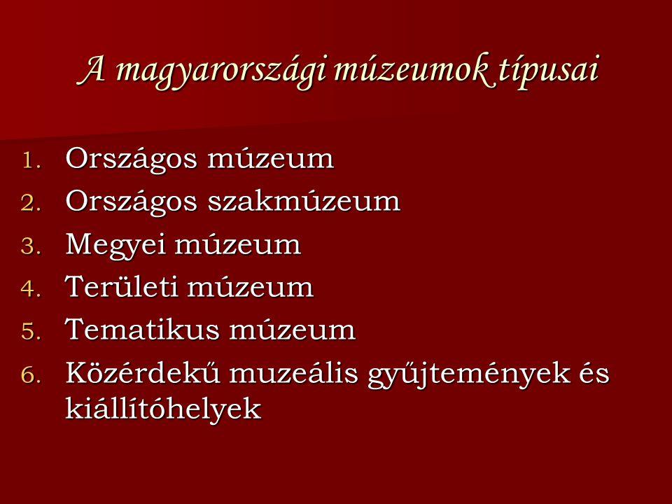 A magyarországi múzeumok típusai