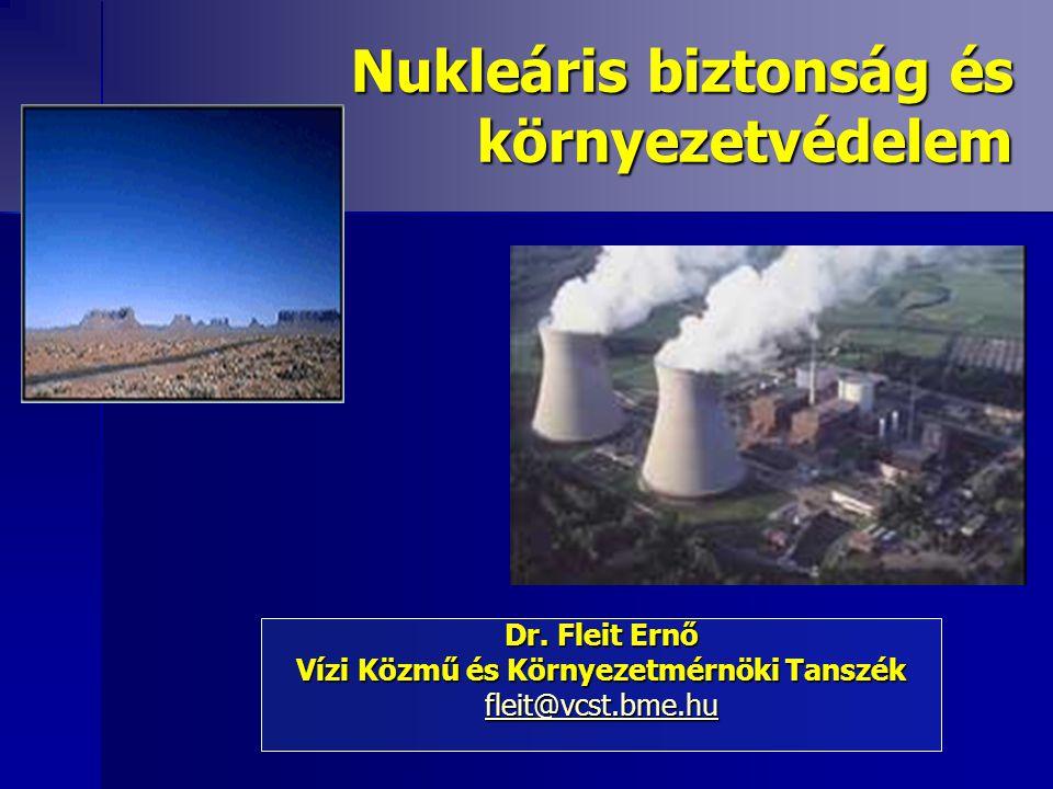 Nukleáris biztonság és környezetvédelem