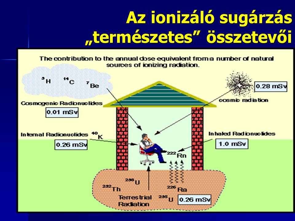 """Az ionizáló sugárzás """"természetes összetevői"""
