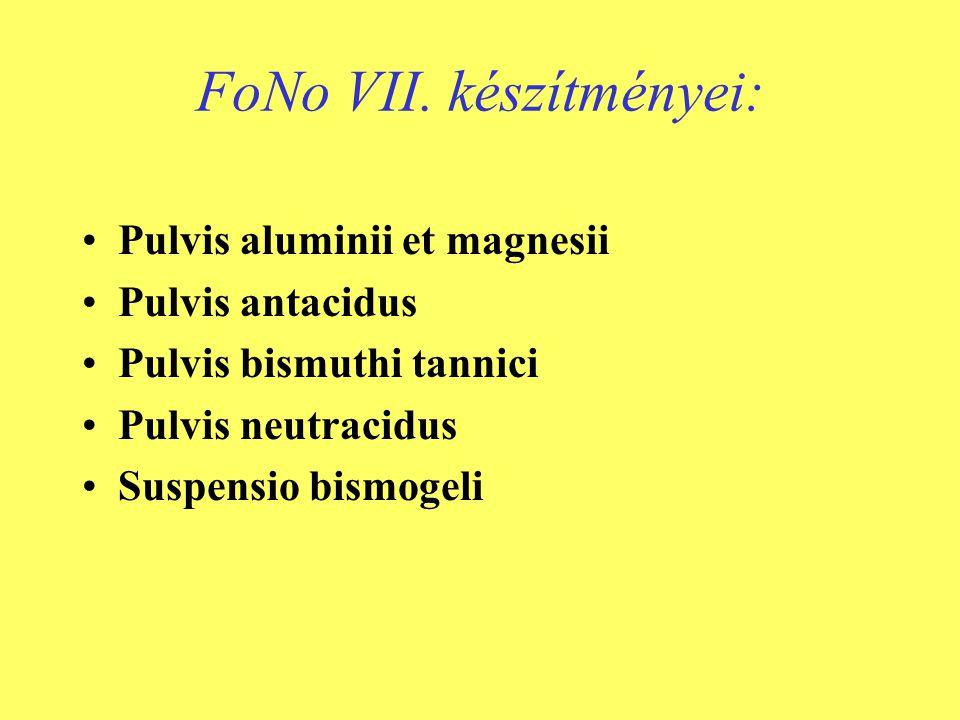 FoNo VII. készítményei: