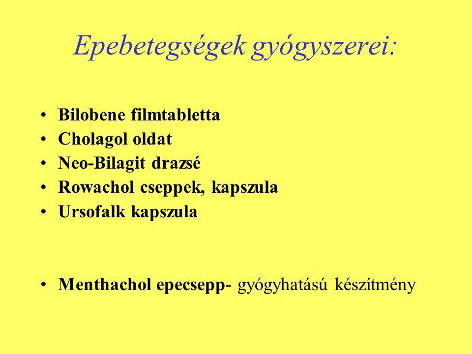 Epebetegségek gyógyszerei:
