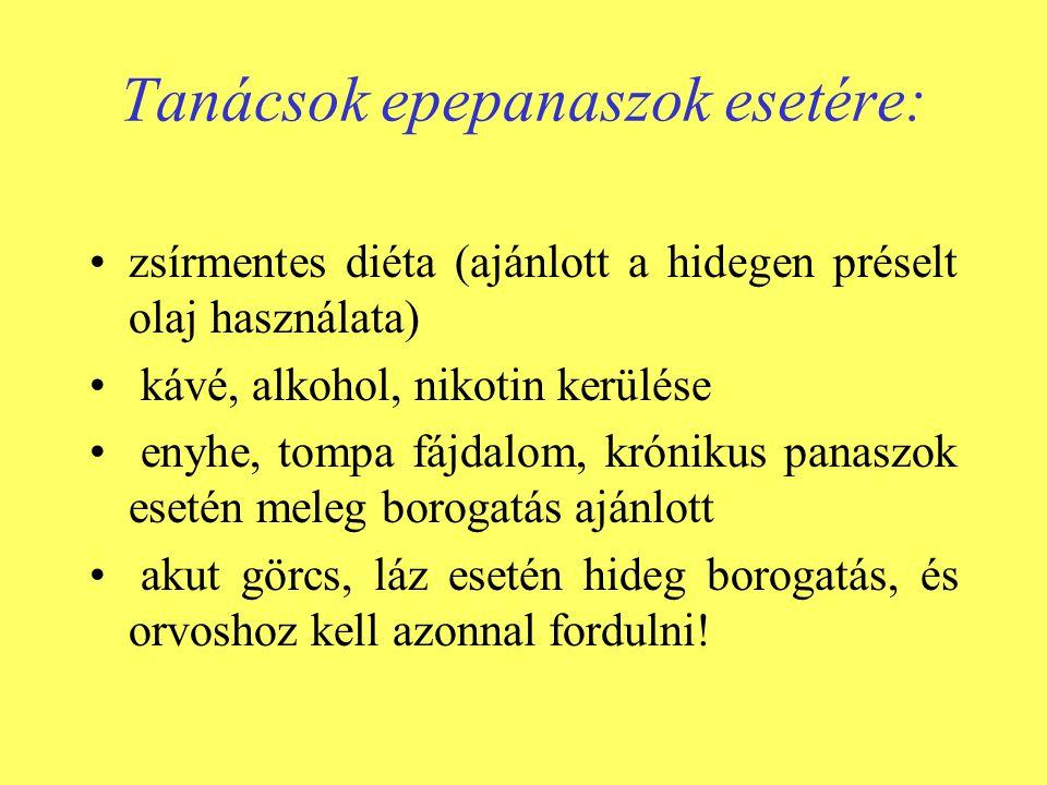 Tanácsok epepanaszok esetére: