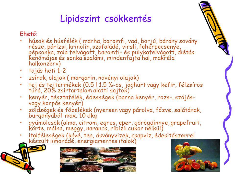 Lipidszint csökkentés