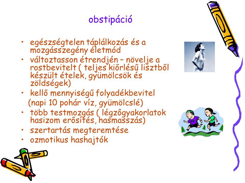 obstipáció egészségtelen táplálkozás és a mozgásszegény életmód