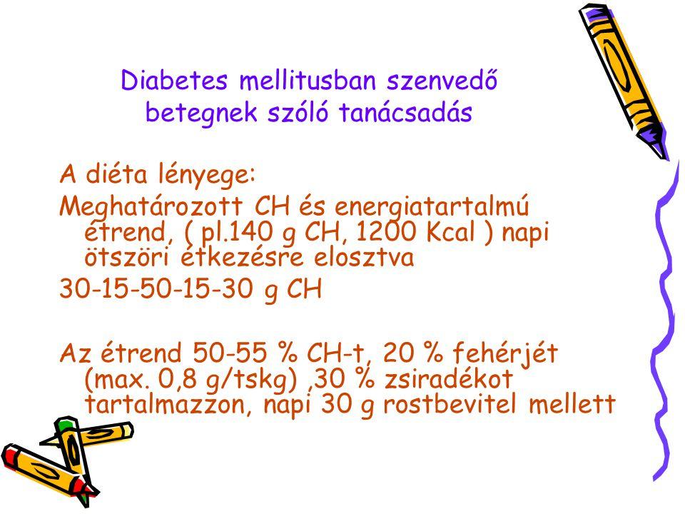 Diabetes mellitusban szenvedő betegnek szóló tanácsadás