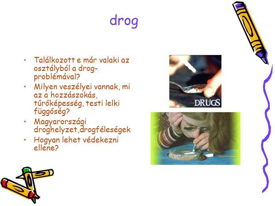 drog Találkozott e már valaki az osztályból a drog-problémával