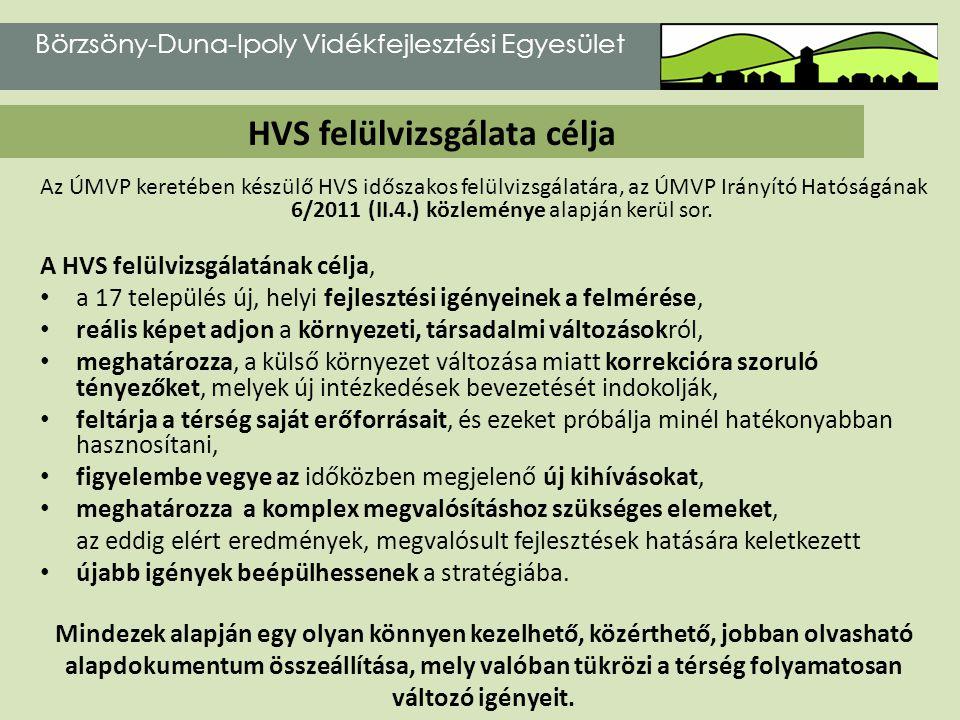 HVS felülvizsgálata célja