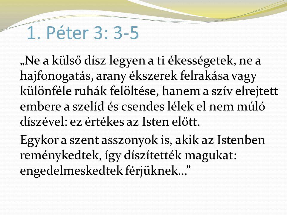 1. Péter 3: 3-5