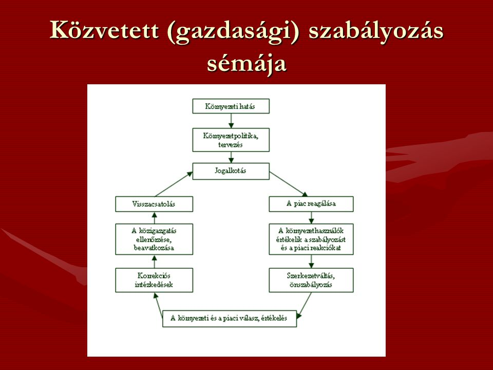 Közvetett (gazdasági) szabályozás sémája