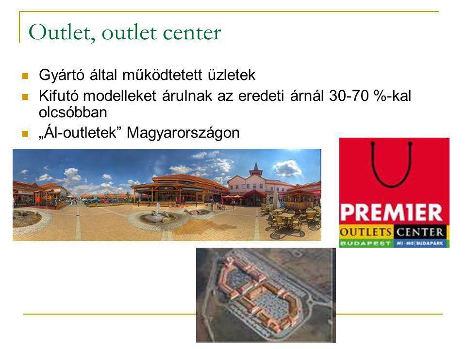 Outlet, outlet center Gyártó által működtetett üzletek