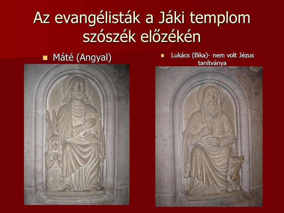 Az evangélisták a Jáki templom szószék előzékén