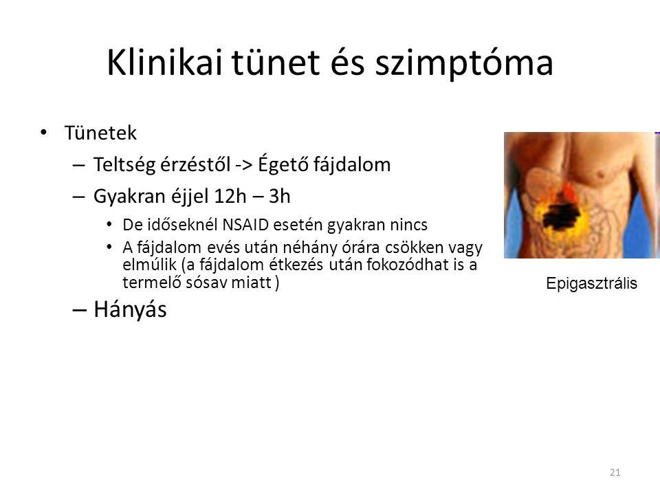 Klinikai tünet és szimptóma