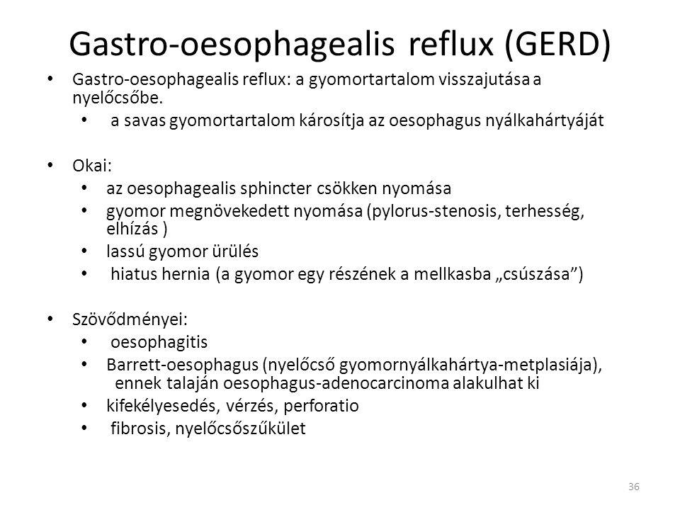 Gastro-oesophagealis reflux (GERD)