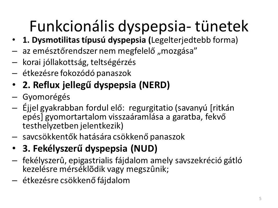 Funkcionális dyspepsia- tünetek